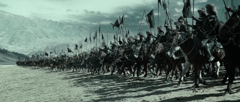 Mongol cavalry prepare to attack.