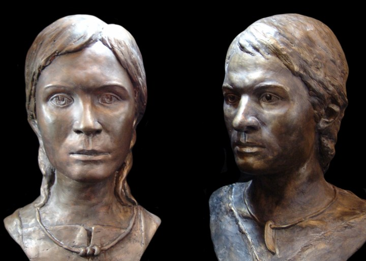 Reconstructions of the faces of Andronovo people, based on remains preserved in the soil