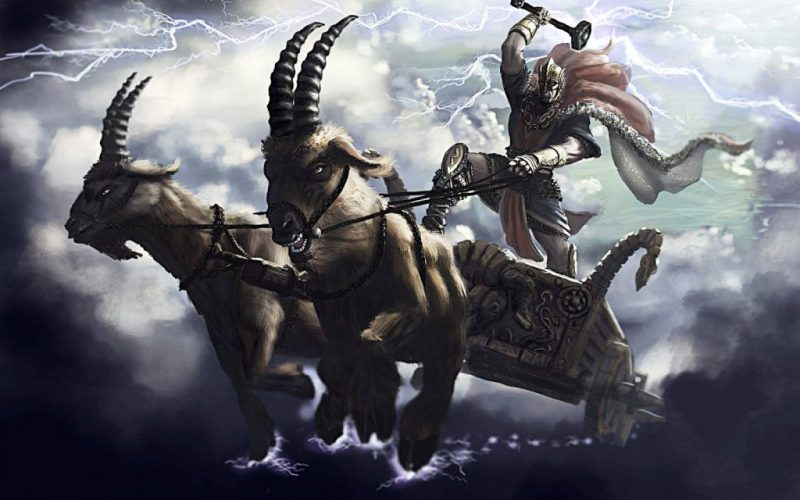 From the goats to the chariot to the lightning, all the elements are present in the Andronovo warrior culture