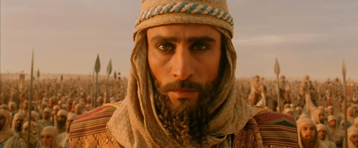 "The Emperor Darius tries to hide how much he's hurt by the Scythian king's diss. (Still from the movie ""Alexander,"" 2004)"