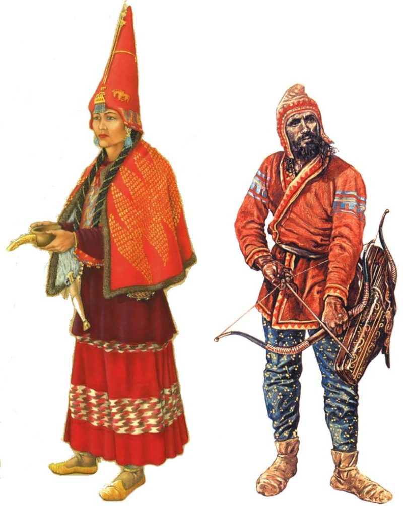 Scythians: A Scythian man and woman.