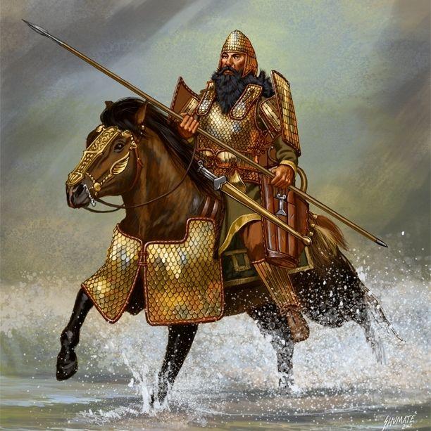 Scythians: A Scythian nobleman on horseback.