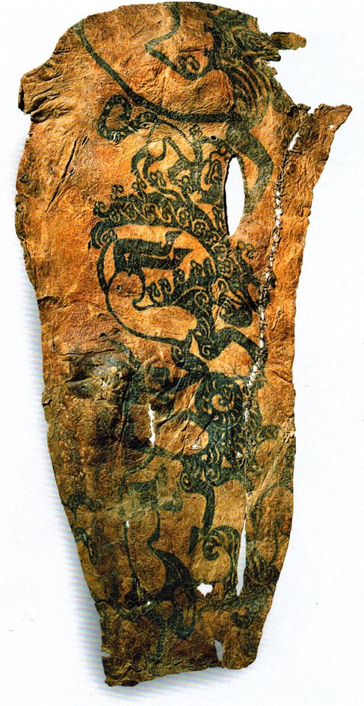 A preserved piece of 2,500-year-old Scythian skin.