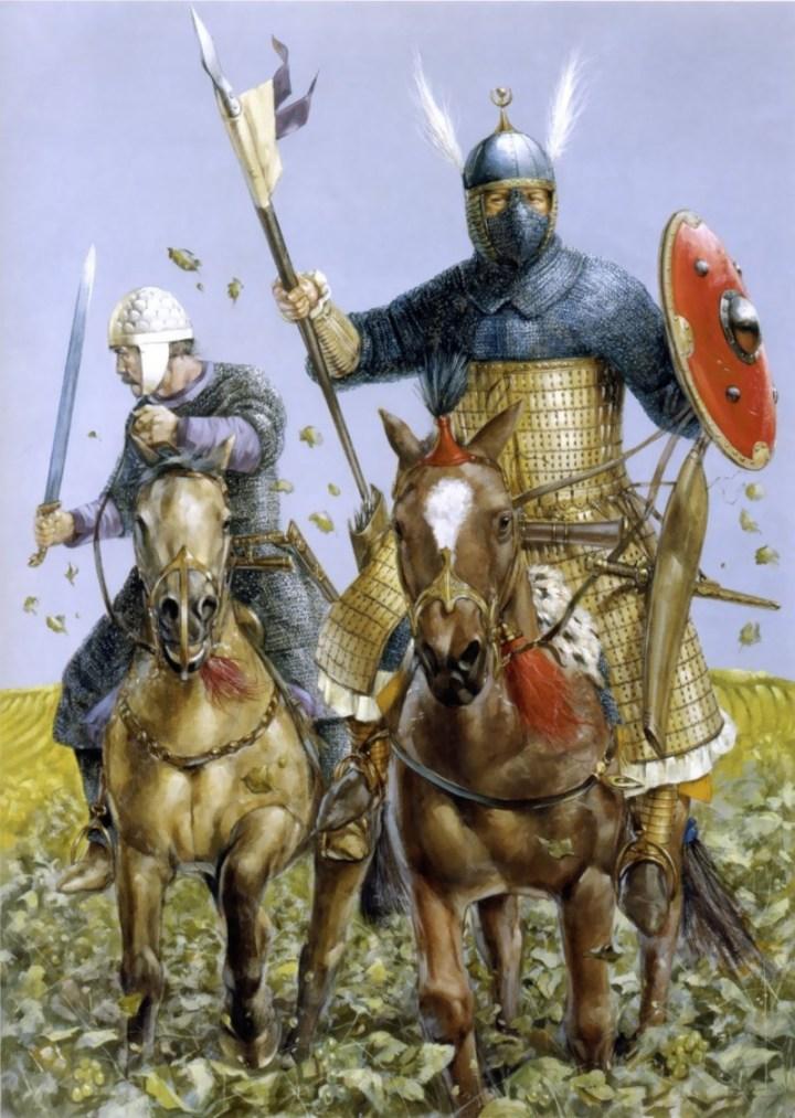 Sogdian Cavalry (left) and Turgesh Tarkhan (right).