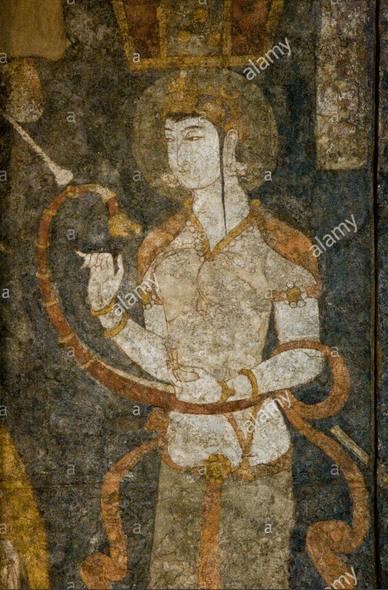A Sogdian nobleman, from a fresco in Panjikent.