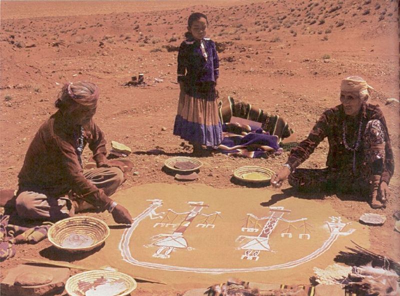 """O'odham people (""""Pima Indians"""") perform a ceremony in the Arizona desert"""