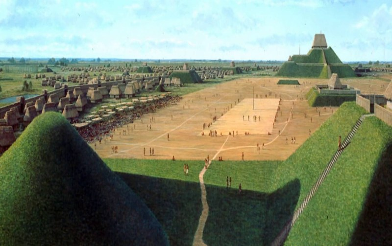 The great central court of the Mississippian city of Cahokia, in Missouri
