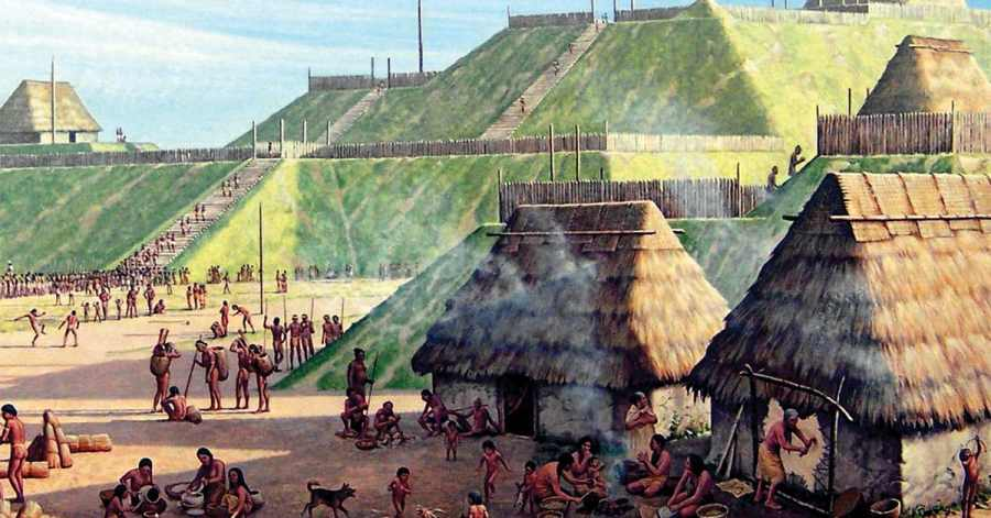 The city of Cahokia in Missouri