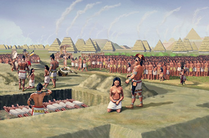Mississippian ritual sacrifice by strangulation at the city of Cahokia