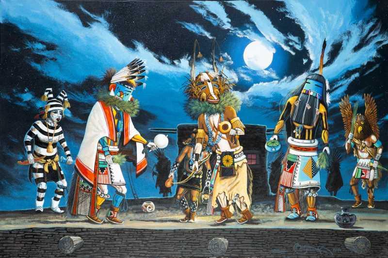 Hopi katsina (kachina) dancers