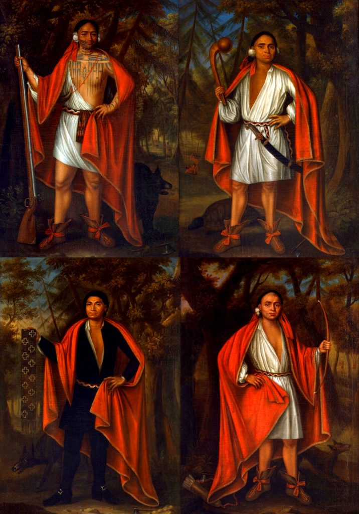 """The """"Four Mohawk Kings"""" who visited London in 1710"""