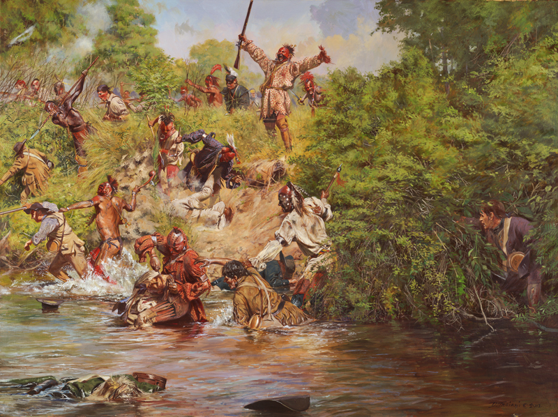 Haudenosaunee (Iroquois) warriors defeating European colonists