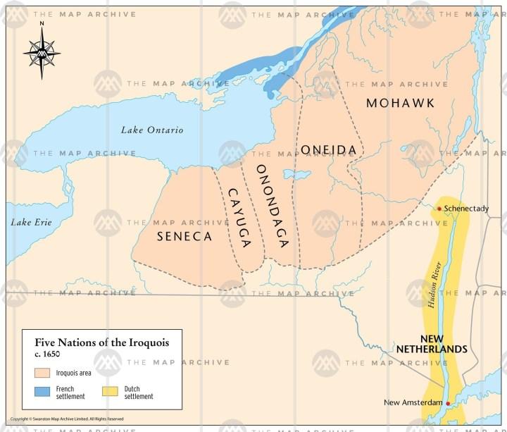 The Haudenosaunee (Iroquois Confederacy) at the peak of their power