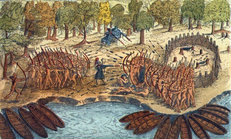 A Haudenosaunee (Iroquois) mourning war in the 1700s