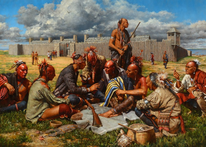 Haudenusaunee (Iroquois) warriors and traders