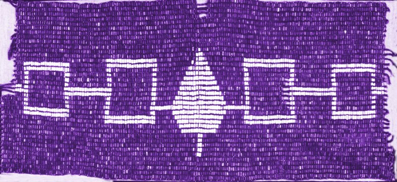 "The ""Hiawatha Belt,"" a wampum belt symbolizing the Five Tribes of the Haudenosaunee (Iroquois Confederacy)"