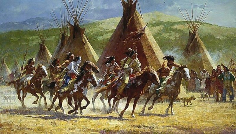 A Comanche war party