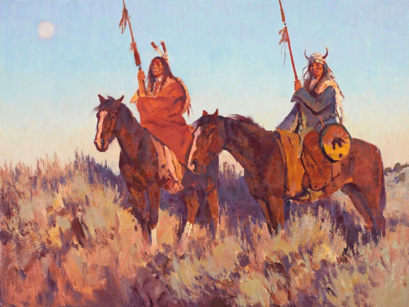 Comanche horsemen