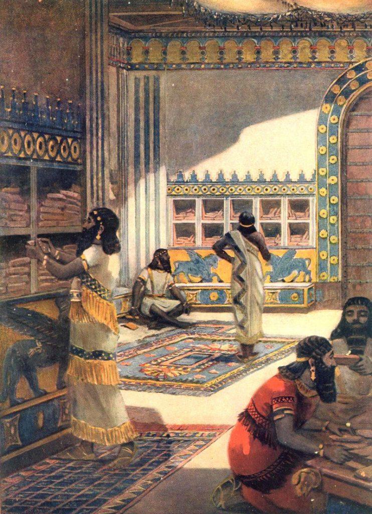 Scholars at the Royal Library of Nineveh