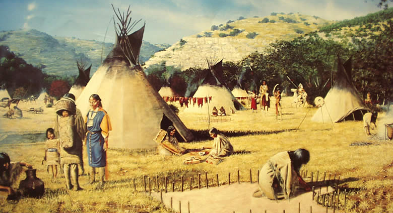 A camp on the Great Plains