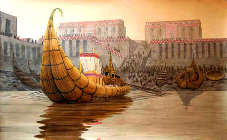 A boat at Eridu