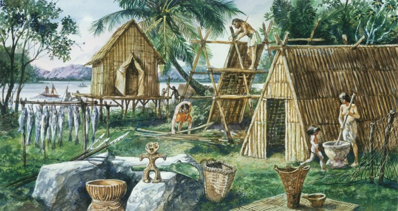 Settlers in Austronesia, circa 4000 BCE