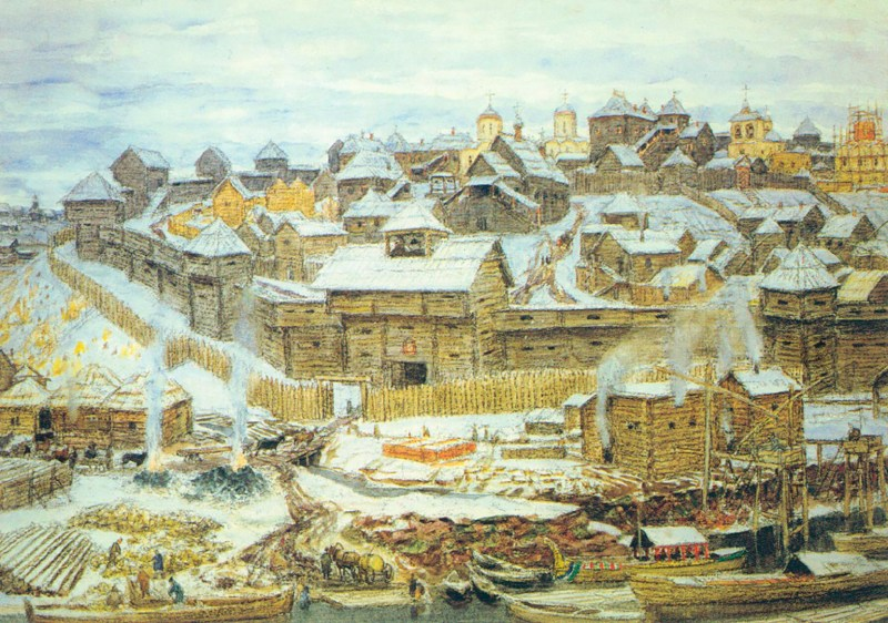 The Kremlin of Moscow in the early 1500s