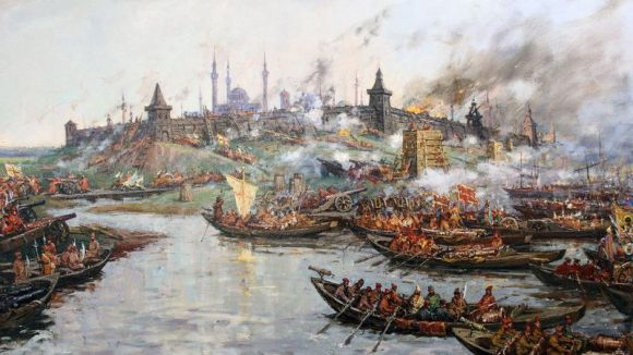 The river battle during the Siege of Kazan