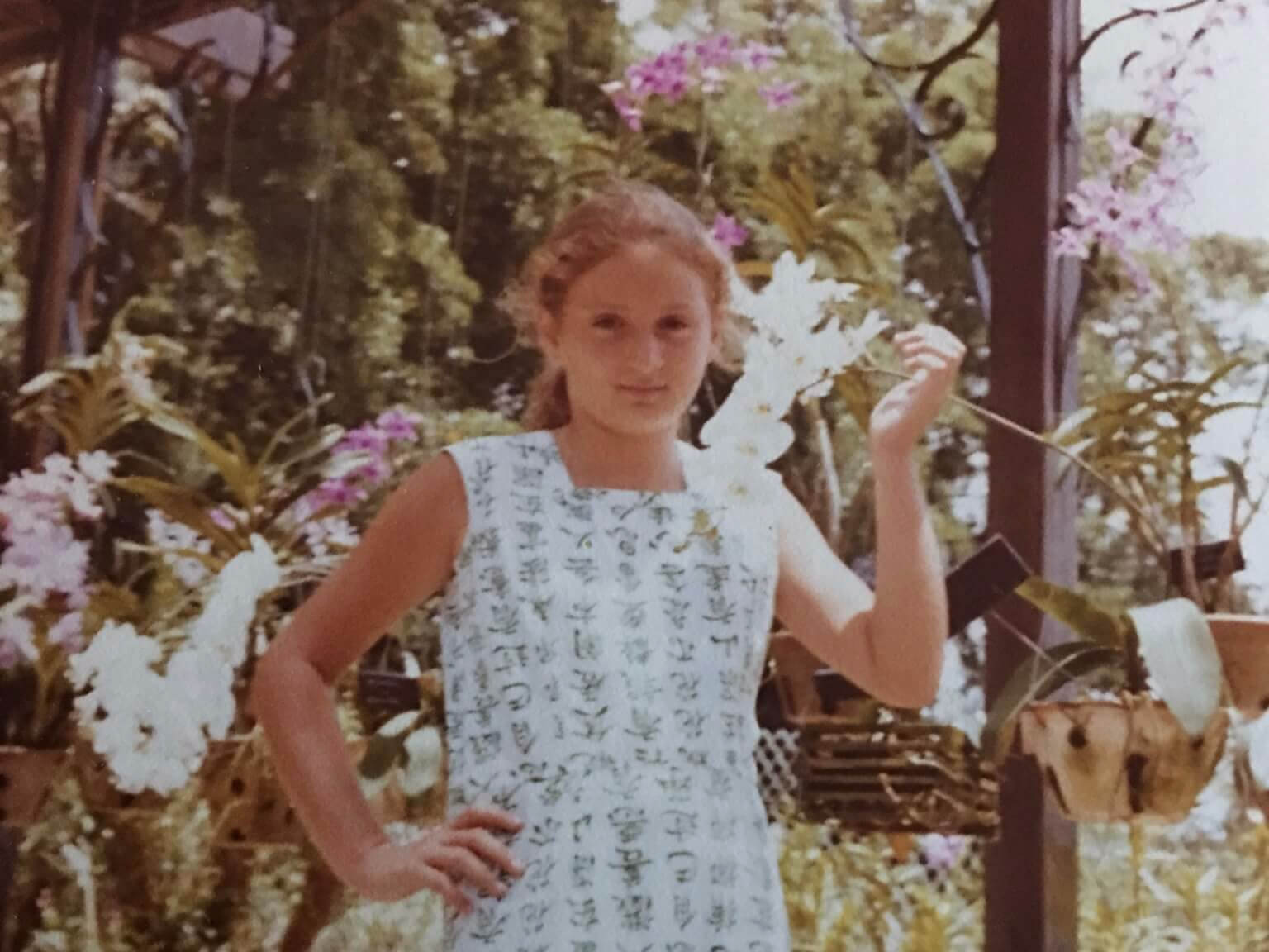 Orchids and me, Singapore 1980