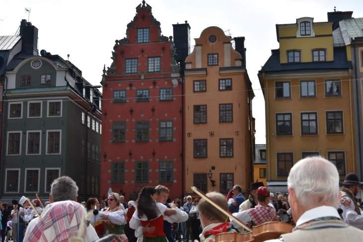 Folk fest in Gamla Stan, Stockholm