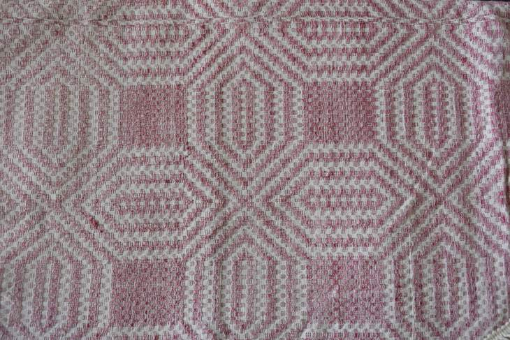 Traditional handwoven blanket.