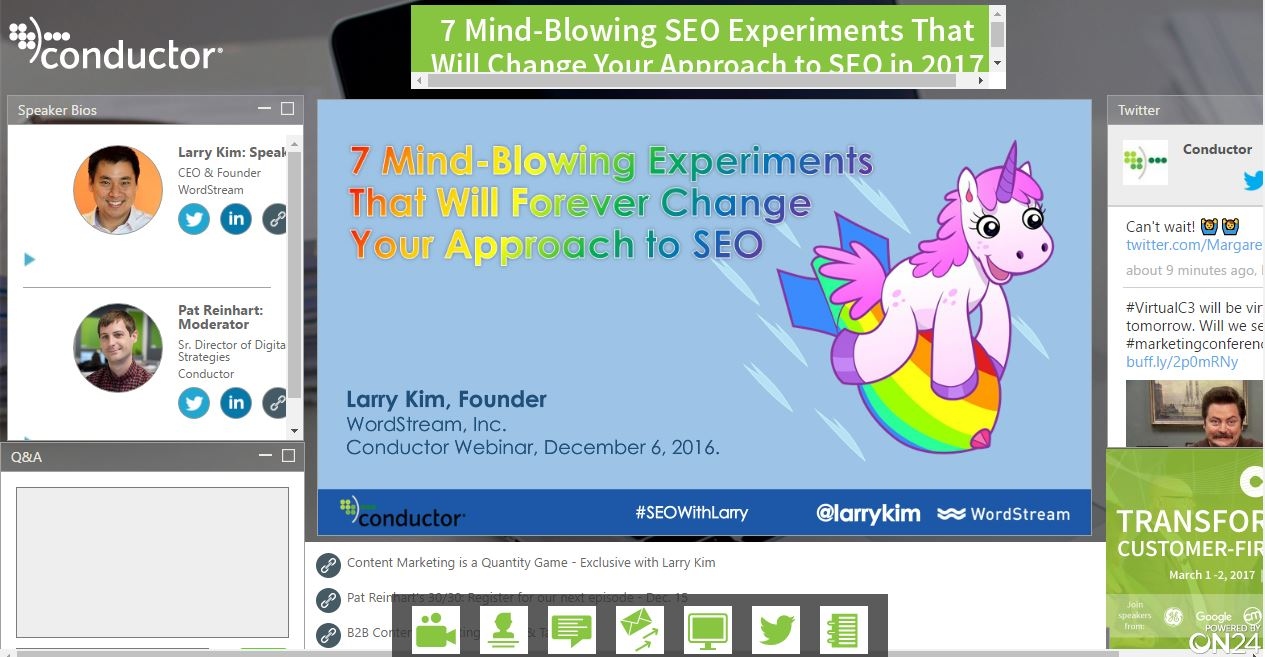 Larry Kim SEO Webinar