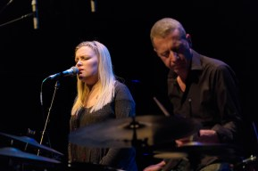 Gian Slater and Maya (Gian Slater - composer, voice; Andrea Keller - piano; Simon Barker - drums; Hannah Cameron, Miriam Crellin, Louisa Rankin - voice; Lachlan Carrick - sound design) at the 2015 Capital Jazz Project held at the Street Theatre -- Civic, Canberra, ACT