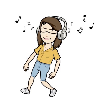 Avatar of author walking with headphones listening to music
