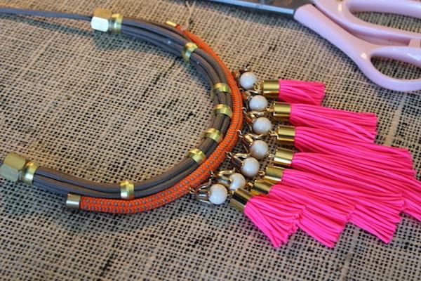 Designer Diy Neon Tassle Necklace With Holst Lee The Stripe