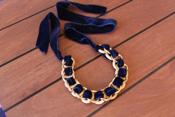 DIY Velvet Ring Necklace