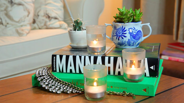DIY Etched Glass Votives