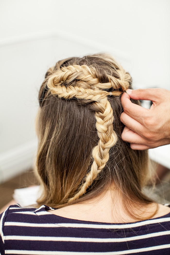 game of thrones khaleesi braid hair tutorial step 18