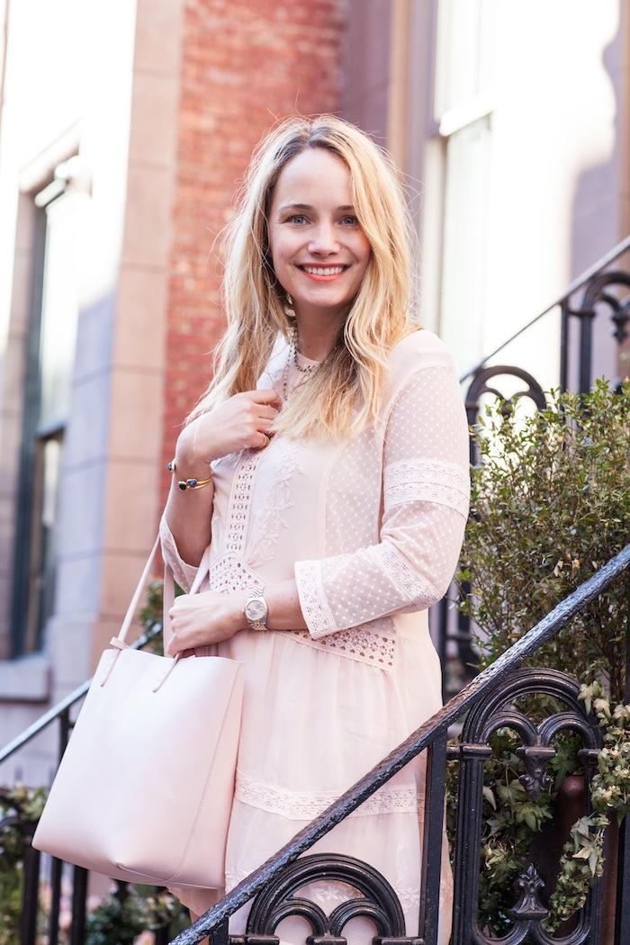 topshop crochet trim chiffon dress 4