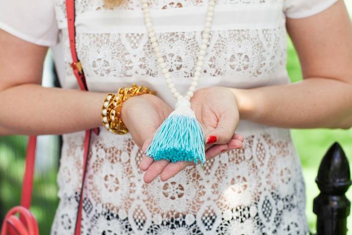 Boho Beads Tassel Necklace - The Stripe.