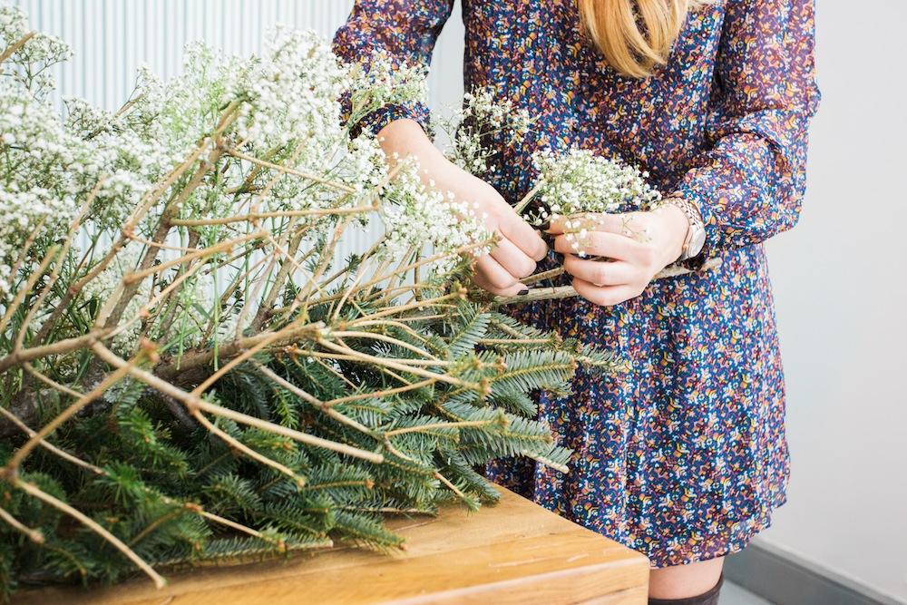 diy pine tree arrangement 9