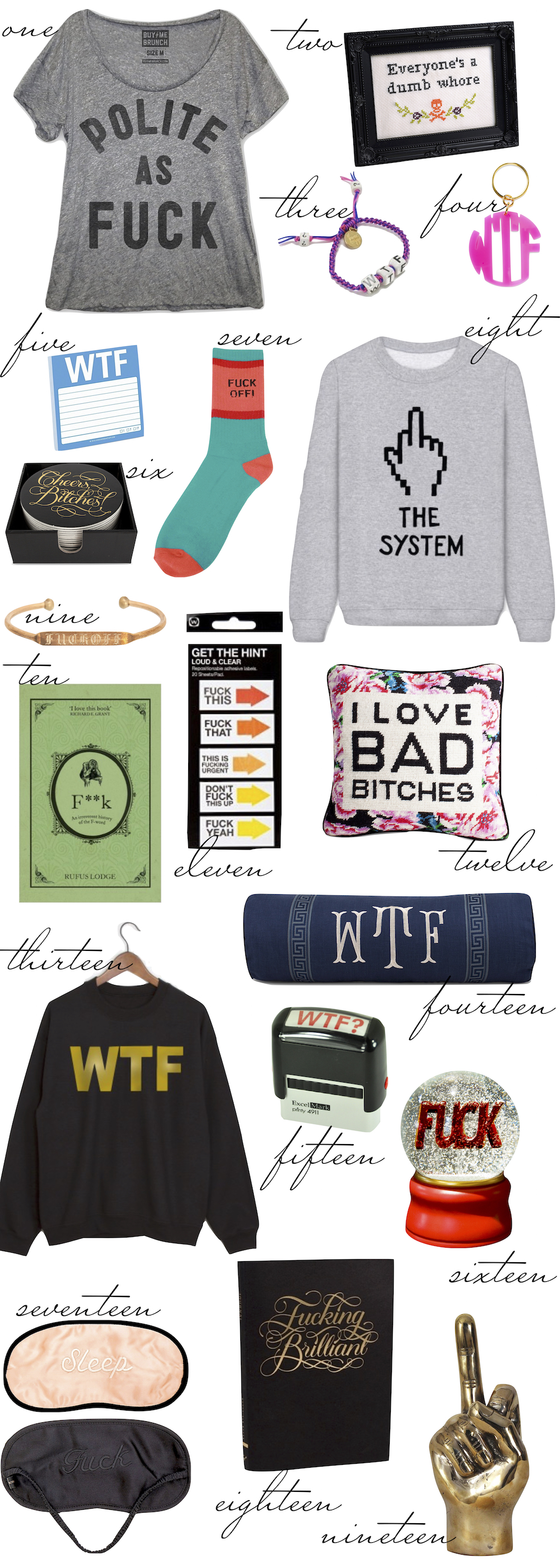 irreverant gifts gift guide the stripe