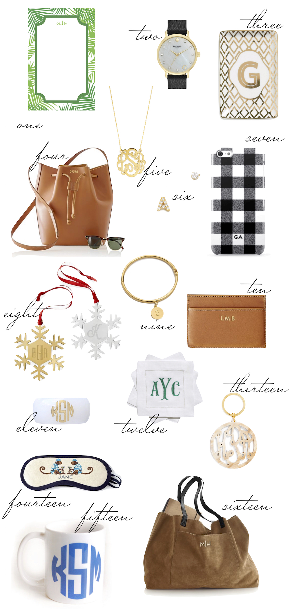 the stripe gift guide monograms