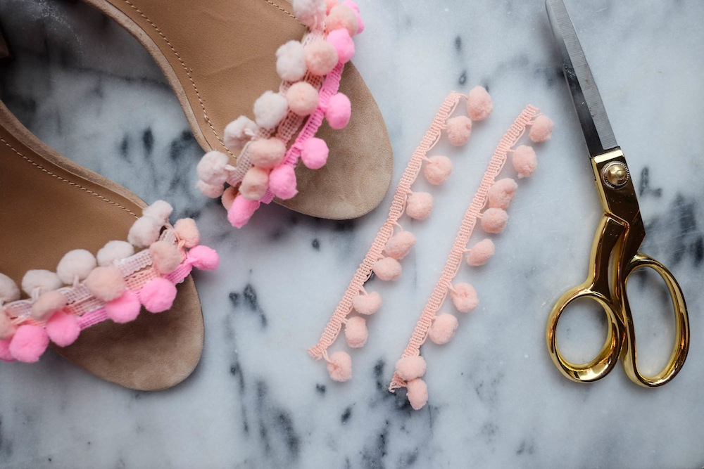 DIY Aquazzura Pom Pom Sandals8