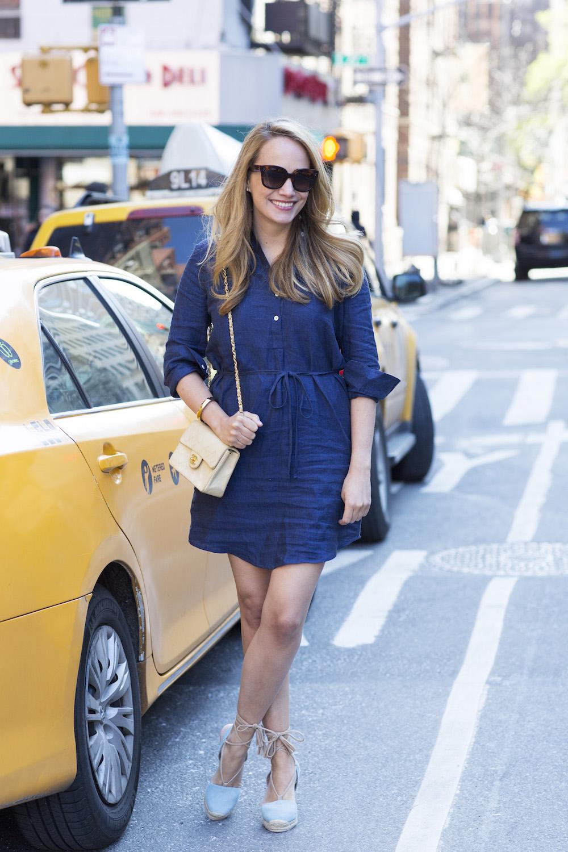 navy blue shirtdress 3