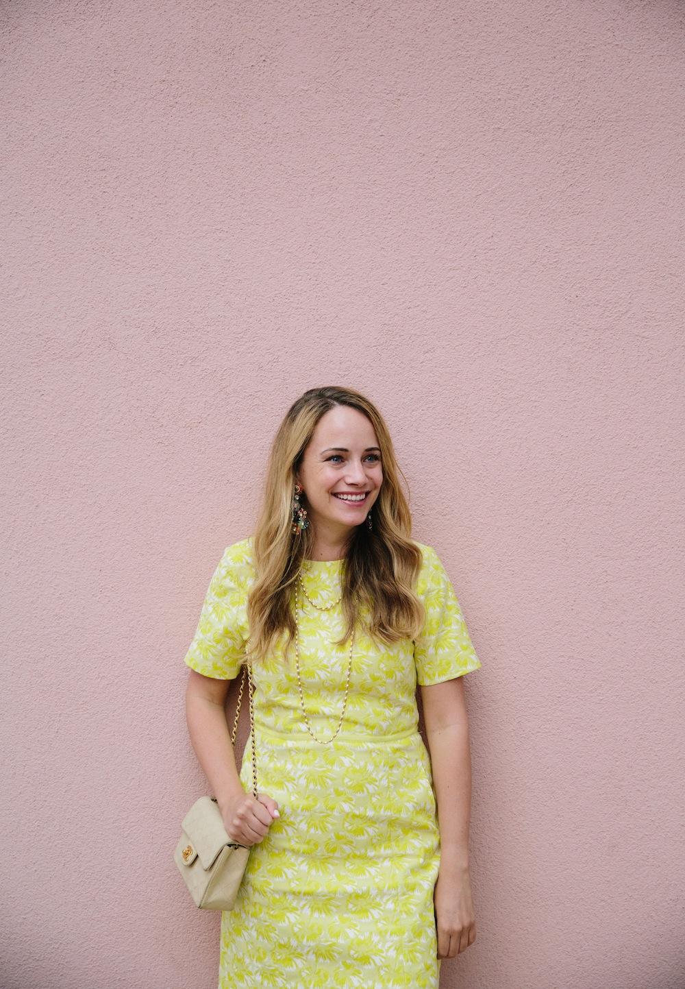 yellow draper james dress 2