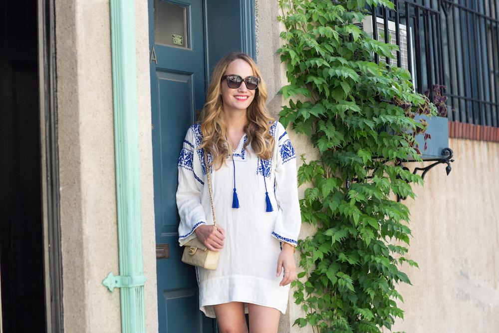 ÉTOILE ISABEL MARANT Vinny embroidered cotton-gauze mini dress // the stripe