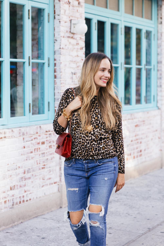 J.Crew Leopard Tippi Sweater - Grace Atwood, The Stripe