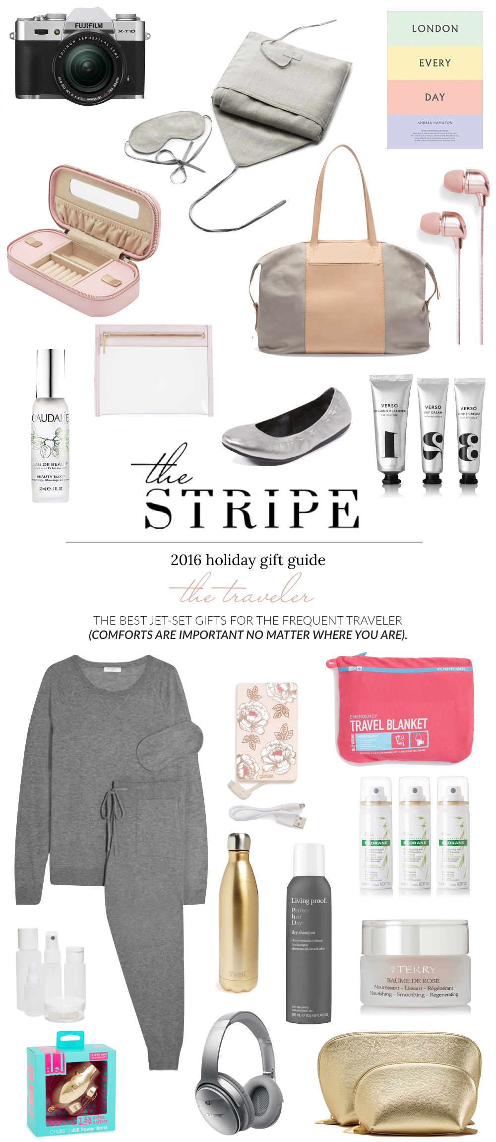 Gifts for the Frequent Traveler - 2016 // The Stripe Blog Holiday Gift Guide