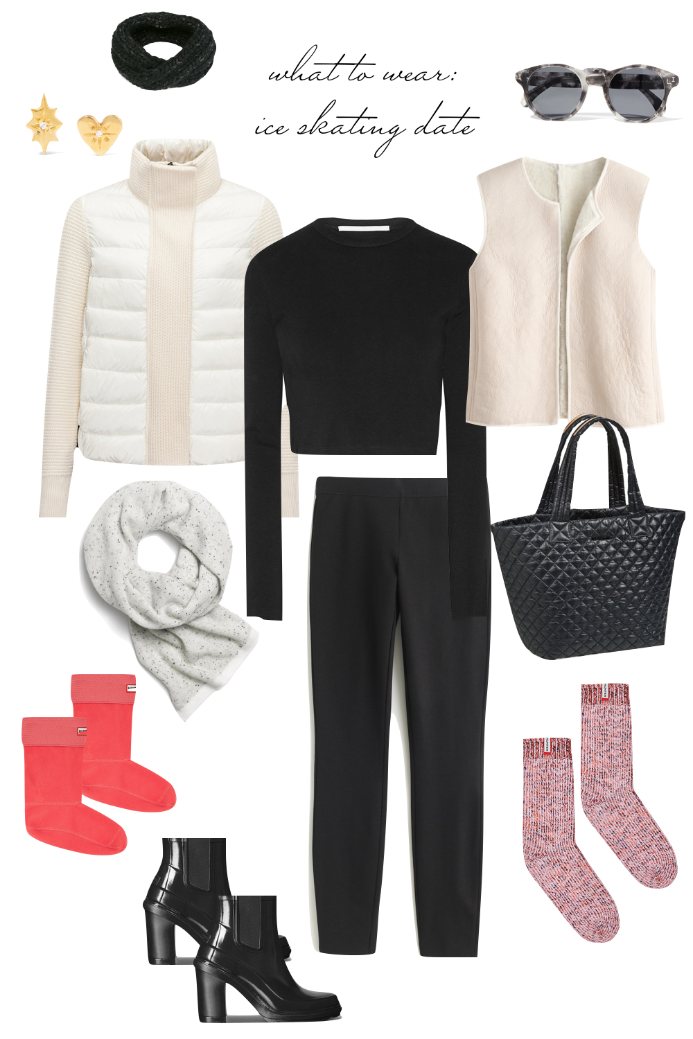 Date Night Outfit Ideas - What to Wear on an Ice Skating Date! Emily Holmes Hahn, Last First NYC - for The Stripe Blog
